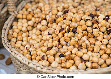 Hazelnuts On The Market