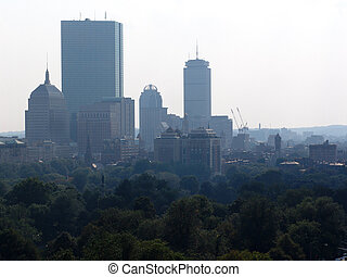 Hazy Afternoon in Boston - Hazy afternon looking out over...