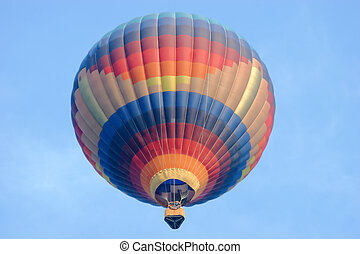 Hazy Morning Hot Air Balloon - Hot Air Balloon taking off on...