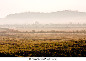 Hazy Morning with a Distant Hill