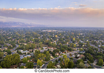 wildfire smoke from Cameron Peak Fire over Fort Collins - ...