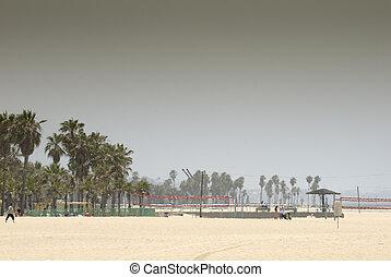 hazy Venice beach