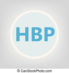 HBP (High Blood Pressure)- vector illustration