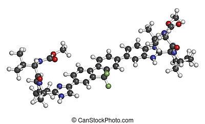 (hcv),  C, molekyl, Drog,  virus, Hepatit,  ledipasvir