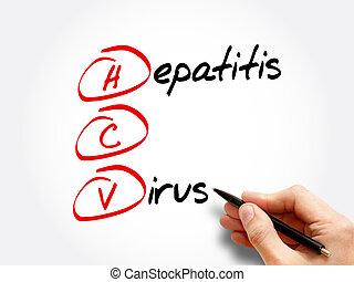 HCV - Hepatitis C virus, acronym health concept