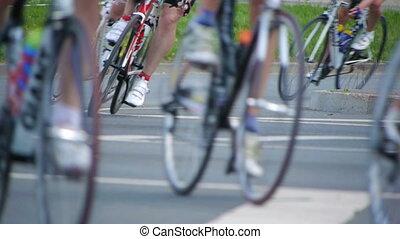hd-, 순환, marathon., 자전거 바퀴