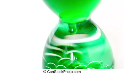 Water clock with green p
