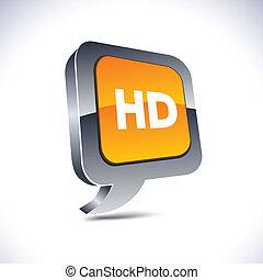 HD 3d balloon button.