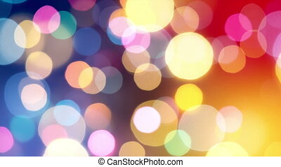 HD - Abstract blurred colorful lights background