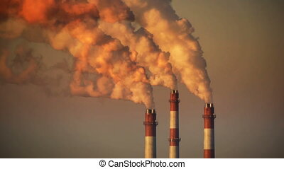 HD - Air pollution. Power plant