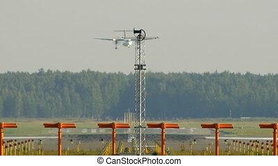HD - Aircraft landing Bombardier Dash-8 Q400