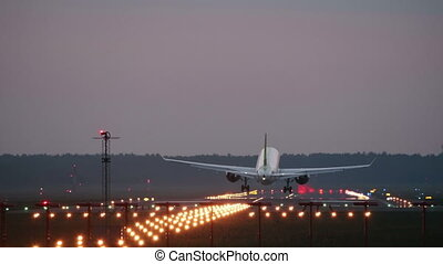 HD - Airplane landing on runway
