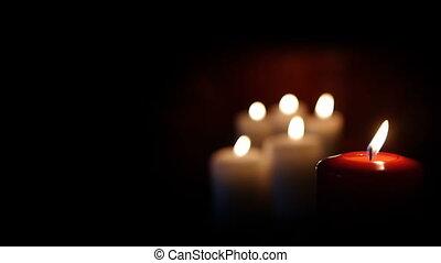 HD - Beautiful red candle backgroun
