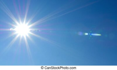 HD - Beautiful summer sun at zenith