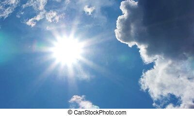 HD - Beautiful summer sun. time lap