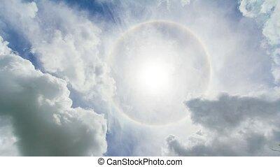 Beautiful summer sun. time lapse