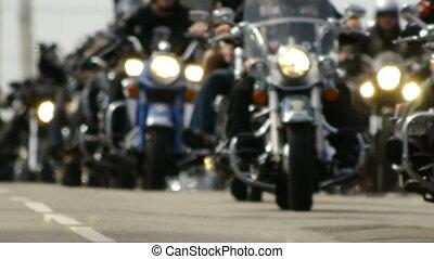 hd, -, bikers., gros plan