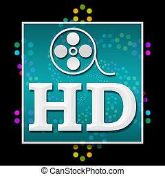 HD Black Colorful Neon