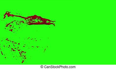 Hd Blood Burst Motion Blur (Green Screen) 1