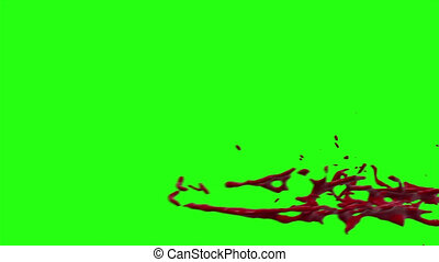 Hd Blood Burst Motion Blur (Green Screen) 169 - High quality...