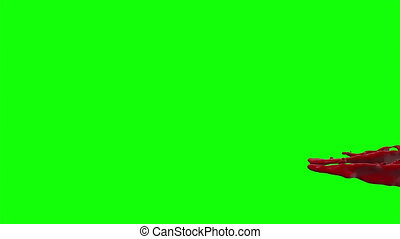 Hd Blood Burst Slow Motion (Green Screen) 169 - Nice HD slow...