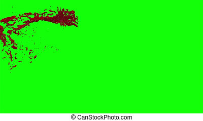 Hd Blood Burst Slow Motion (Green Screen) 2
