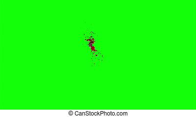 Hd Blood Burst Slow Motion (Green Screen)