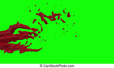 Hd Blood Burst Slow Motion (Green Screen) 94 - Nice HD slow...