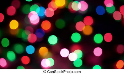 HD - Blurred Christmas colorful lights background