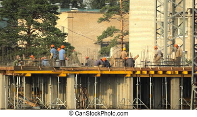 HD Builders in the construction site