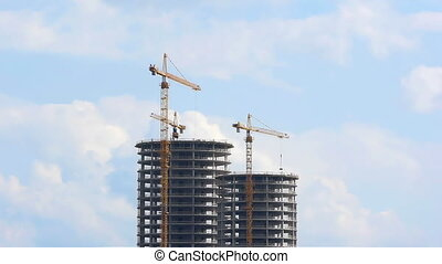 HD - Building skyscraper. Time Lapse