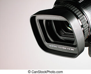 HD Camera-Lens - A close-up shot of high-definition (HD)...