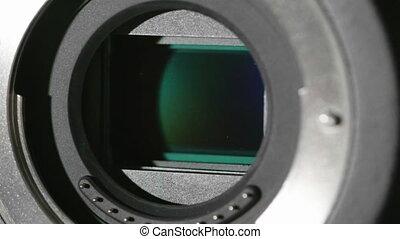 HD - Camera sensor. Close-up shutter works