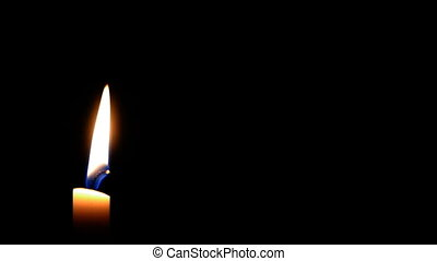 HD - Candle in the Wind with black
