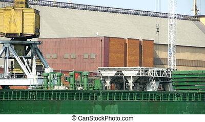 HD - Cargo crane in port scene2