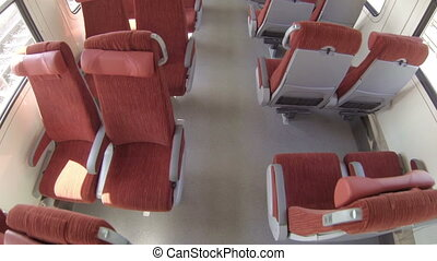 HD - Chairs in a train carriage
