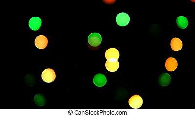 HD - Christmas lights blinks