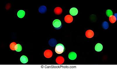 HD - Christmas lights random blinks