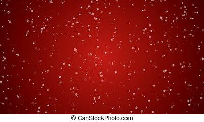 HD - Christmas Snow Flakes LRed BG - HD 1080 - Christmas...