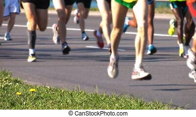 HD - City Marathon closeup people