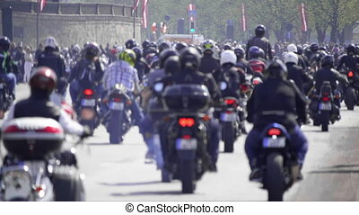 HD - Critical mass. Riding a motorcycles
