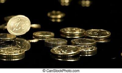 hd, -, dalende muntstukken
