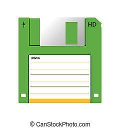 HD diskette old data media illustration