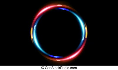 HD double ring blue red