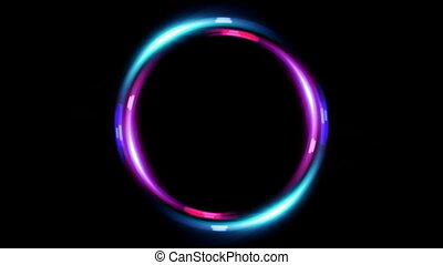 HD double ring flare pink blue