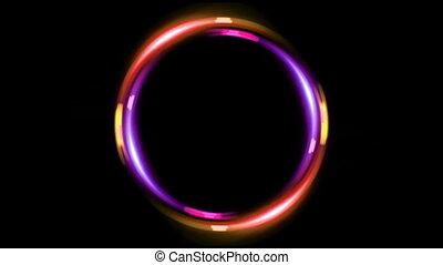HD double ring pink orange
