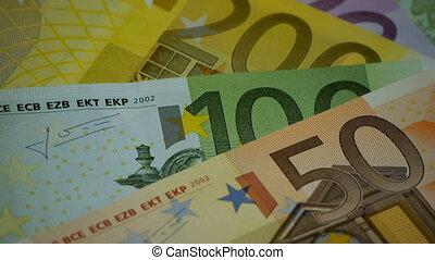 HD - Euro Money. Rotating banknotes