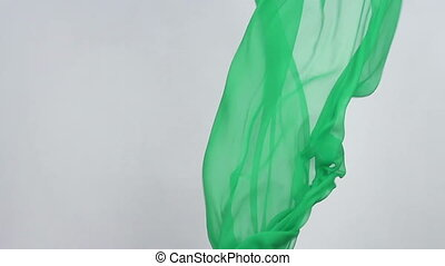 fabric blowing in the wind