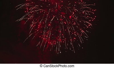 HD Firework display composition from several clips -...
