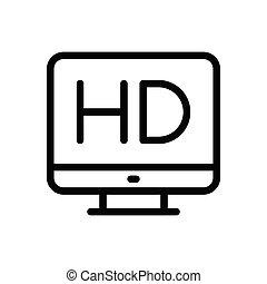 HD flat color icon